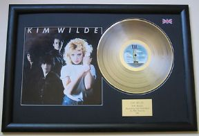 KIM WILDE - KIm Wilde PLATINUM LP & Cover Presentation DISC